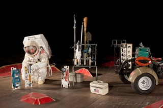 Mary Eannarino performs mission tasks in preparation for SPACE PROGRAM: MARS, Tom Sachs