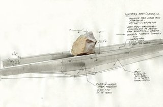 Preliminary sketch for Levitated Mass, Michael Heizer