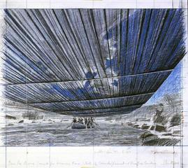 Over the River, Project for Arkansas River, State of Colorado, Drawing, Christo