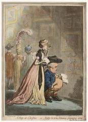 A Peep at Christies; _ or _ Tally-ho, & His Nimeney-Pimmeney Taking the Morning Lounge, James Gillray