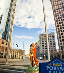 The Delegate, Portage and Main, Winnipeg, Manitoba, (from the series Indians on Tour),, Jeffrey M.Thomas