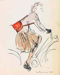"""""""La Parisienne,"""" from The Morning After, Paris, René Bouché"""