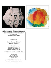 Abstract Expression Summer Exhibition, Marsha Solomon, Frank Bowman Krimmel
