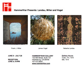 Exhibition featuring 3 Solo Shows, Frank Miller, James Vogel, Natasha Landau