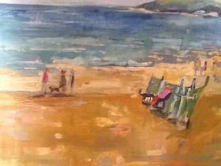 Beach Scene, Claire Inskip