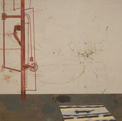 Studio Painting with Sculptural Element (Water), Jacob Tillman