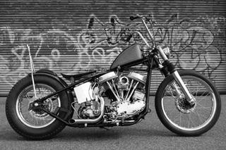 Panhead motorcycle , Olivier Mosset