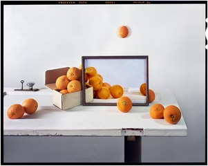 Oranges, Paintings on Door, John Chervinsky