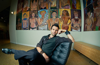 "the artist with his ""Naked & Famous"" series, Jeffrey Vincent Parise"