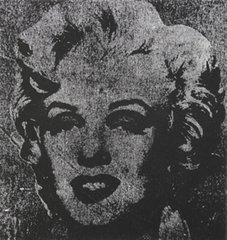Not Warhol, one silver Marilyn 1962, Mike Bildlo