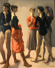 Ida with Four Dancers, Moses Soyer