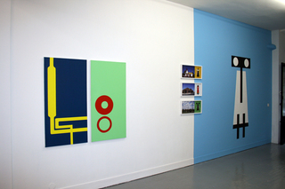 exhibition view, week 7, Gallery Anne Barrault,Heidi Wood