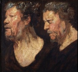 Studies of Abraham Grapheus' head, Jacob Jordaens