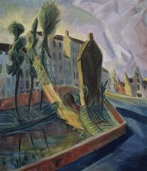 The Augustijnenrei at Bruges in the Morning,Erich Heckel