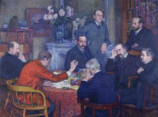 The Reading by Emile Verhaeren,Théo van Rysselberghe