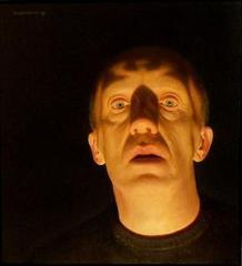 Zelfportret bij lamplicht , Gerrit Wijngaarden