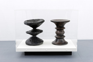 Stool Series (Ethnographical Zig Zag Stool, Eames Walnut Stool),Matthew Darbyshire