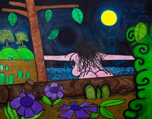 Bathers Seventeen (Black Hole),Carroll Dunham