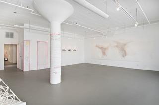 "Install shot of ""Lineamenta"", Nuttaphol Ma, Tim Youd, China Adams"