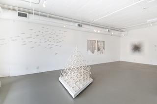 "Install shot of ""Lineamenta"", Sandeep Mukherjee, Jed Lind, GeoVanna Gonzalez, MA Peers"