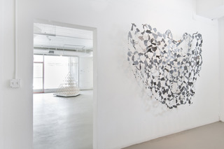 """Install shot of """"Lineamenta"""", Jed Lind, Lisa C Soto"""