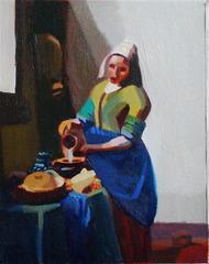 Study after Vermeer, Sylvia Eneriz