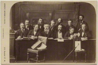 The Jury at the Tichborne Criminal Trial by Watkins & Haigh ,