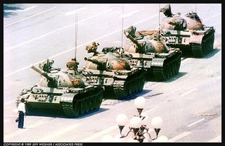 A lone man stops a column of tanks near Tiananmen Square, Beijing, China,Jeff Widener