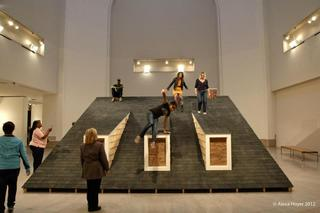 The Eastern Oracle: We Will Tear the Roof Off the Mother, Brooklyn Museum, exterior interaction view,Heather Hart