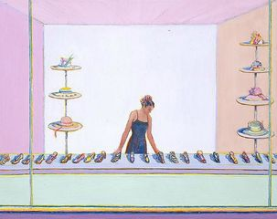 Shoes and Hats,Wayne Thiebaud