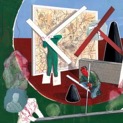 La Trace # 2 (detail), Gabriel Leger
