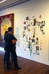 Process wall for \'Allegory of the Monoceros\', Andy Diaz Hope, Laurel Roth