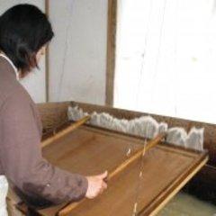 Kiyoko Hasegawa making mino paper at Hasegawa Papermaking Mill in Gifu Prefecture, Japan,