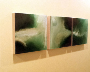 Installation shot: Little Green Pearl Series, Suzan Woodruff