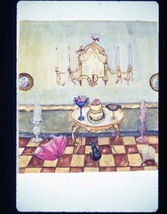 Tableon Checkered Floor, Frieda Lawrence