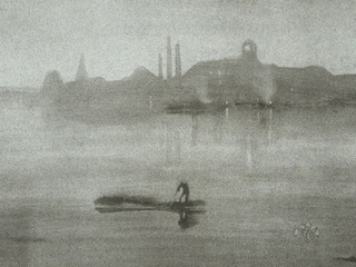 Nocturne, the River at Battersea,JAMES ABBOTT MCNEILL WHISTLER