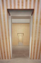 Leaning Walls Installation , Daniel Buren