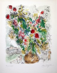Roses et Mimosa, Marc Chagall