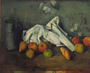 Milk Can and Apples,Paul Cezanne