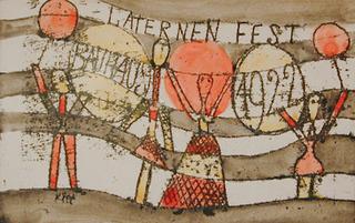 Laternenfest Bauhaus1922 (Bauhaus Lantern Festival 1922), Paul Klee