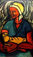 Malangatana Ngwenya: Matalana, 1970, oil on canvas, 38x22 inches,
