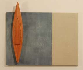Blackboard, Cement, Fir and Boat, David Ruddell