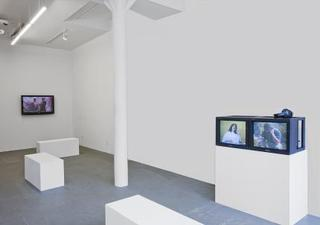 (installation view) Video Works (1997-2002) at Brennan & Griffin, NY,Michele O\'Marah