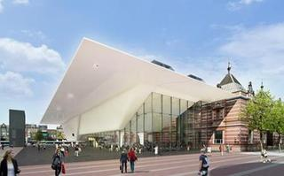 The new Stedelijk Museum in Amsterdam, restored and enlarged by Benthem Crouwel Architects - Image Zwartlicht,