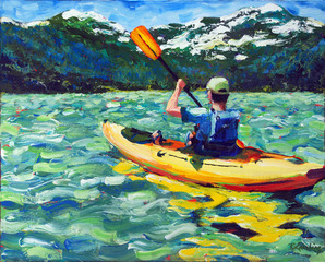 A Day on Independence Lake, Rebecca Lambing