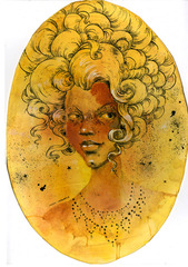Portrait of Dante Posh, Molly Crabapple