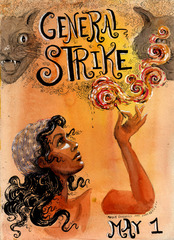Poster for the May Day General Strike, Molly Crabapple