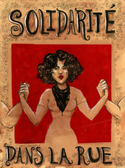 Poster for the Montreal Student Demonstrations,Molly Crabapple