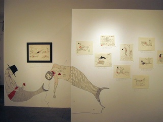2 person show - Installation View of Hsiung\'s work, Michael C. Hsiung and Cole Gerst
