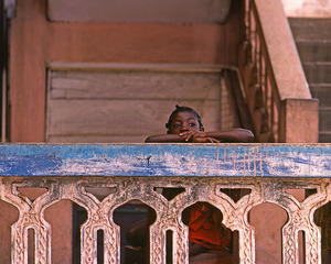 Girl on Balcony, Janet Milhomme